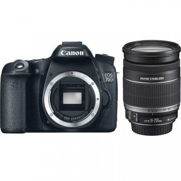 Canon EOS 70D DSLR Camera With EF-S 18-200MM 1:3.5-5.6 IS