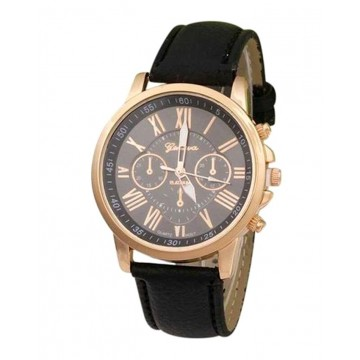 Black Analogue Watch for Women